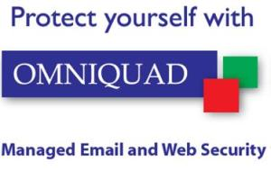 Omniquad Logo, as seen on our anti virus hand gel bottles.