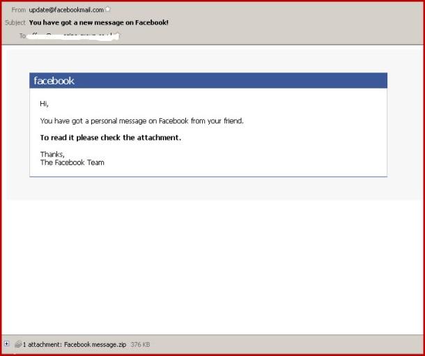 Facebook Scam - Trojan Warning