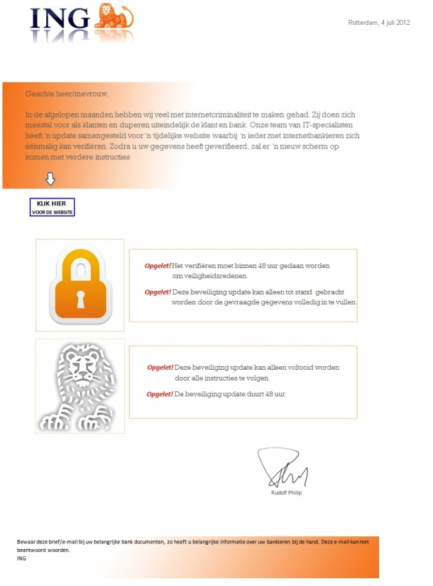 ING Bank Email Scam