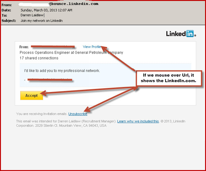 Linkedin phishing emails how to distinguish between a phish and a real linkedin email request stopboris Images